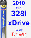 Driver Wiper Blade for 2010 BMW 328i xDrive - Hybrid