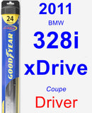 Driver Wiper Blade for 2011 BMW 328i xDrive - Hybrid
