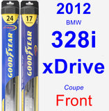 Front Wiper Blade Pack for 2012 BMW 328i xDrive - Hybrid