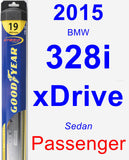 Passenger Wiper Blade for 2015 BMW 328i xDrive - Hybrid
