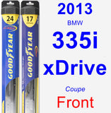 Front Wiper Blade Pack for 2013 BMW 335i xDrive - Hybrid