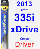 Driver Wiper Blade for 2013 BMW 335i xDrive - Hybrid