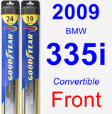 Front Wiper Blade Pack for 2009 BMW 335i - Hybrid