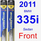 Front Wiper Blade Pack for 2011 BMW 335i - Hybrid