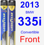 Front Wiper Blade Pack for 2013 BMW 335i - Hybrid