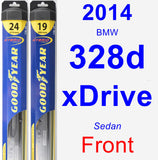Front Wiper Blade Pack for 2014 BMW 328d xDrive - Hybrid