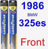 Front Wiper Blade Pack for 1986 BMW 325es - Hybrid