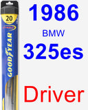 Driver Wiper Blade for 1986 BMW 325es - Hybrid
