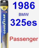 Passenger Wiper Blade for 1986 BMW 325es - Hybrid