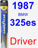 Driver Wiper Blade for 1987 BMW 325es - Hybrid