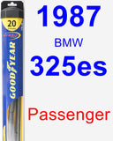 Passenger Wiper Blade for 1987 BMW 325es - Hybrid