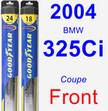 Front Wiper Blade Pack for 2004 BMW 325Ci - Hybrid