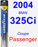 Passenger Wiper Blade for 2004 BMW 325Ci - Hybrid