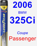Passenger Wiper Blade for 2006 BMW 325Ci - Hybrid