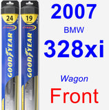 Front Wiper Blade Pack for 2007 BMW 328xi - Hybrid