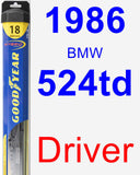 Driver Wiper Blade for 1986 BMW 524td - Hybrid