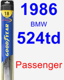 Passenger Wiper Blade for 1986 BMW 524td - Hybrid