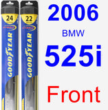Front Wiper Blade Pack for 2006 BMW 525i - Hybrid
