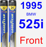 Front Wiper Blade Pack for 1995 BMW 525i - Hybrid