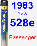 Passenger Wiper Blade for 1983 BMW 528e - Hybrid