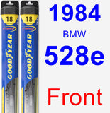Front Wiper Blade Pack for 1984 BMW 528e - Hybrid