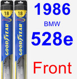 Front Wiper Blade Pack for 1986 BMW 528e - Hybrid