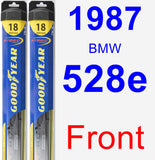 Front Wiper Blade Pack for 1987 BMW 528e - Hybrid