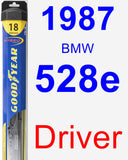 Driver Wiper Blade for 1987 BMW 528e - Hybrid