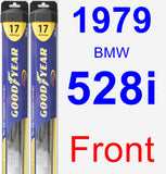 Front Wiper Blade Pack for 1979 BMW 528i - Hybrid