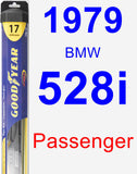 Passenger Wiper Blade for 1979 BMW 528i - Hybrid