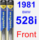 Front Wiper Blade Pack for 1981 BMW 528i - Hybrid