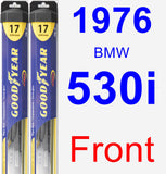 Front Wiper Blade Pack for 1976 BMW 530i - Hybrid
