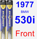 Front Wiper Blade Pack for 1977 BMW 530i - Hybrid