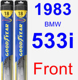 Front Wiper Blade Pack for 1983 BMW 533i - Hybrid