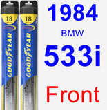 Front Wiper Blade Pack for 1984 BMW 533i - Hybrid