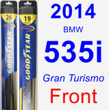 Front Wiper Blade Pack for 2014 BMW 535i - Hybrid