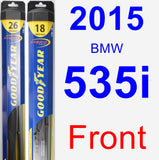 Front Wiper Blade Pack for 2015 BMW 535i - Hybrid