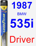 Driver Wiper Blade for 1987 BMW 535i - Hybrid