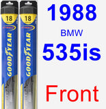 Front Wiper Blade Pack for 1988 BMW 535is - Hybrid