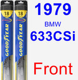 Front Wiper Blade Pack for 1979 BMW 633CSi - Hybrid