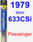 Passenger Wiper Blade for 1979 BMW 633CSi - Hybrid
