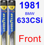 Front Wiper Blade Pack for 1981 BMW 633CSi - Hybrid