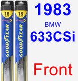 Front Wiper Blade Pack for 1983 BMW 633CSi - Hybrid