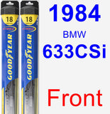 Front Wiper Blade Pack for 1984 BMW 633CSi - Hybrid