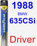 Driver Wiper Blade for 1988 BMW 635CSi - Hybrid