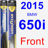 Front Wiper Blade Pack for 2015 BMW 650i - Hybrid