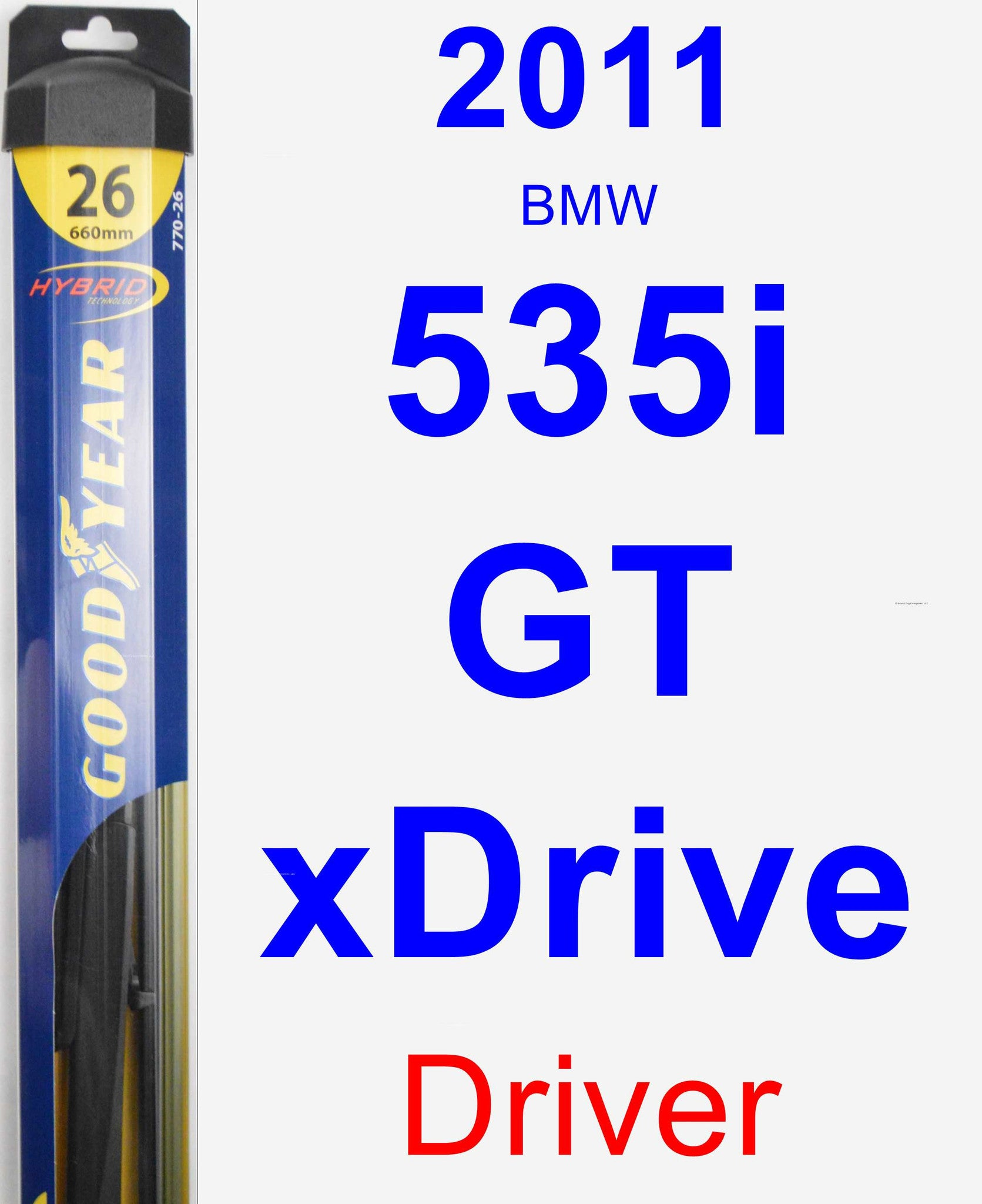 Driver Wiper Blade for 2011 BMW 535i GT xDrive - Hybrid