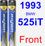 Front Wiper Blade Pack for 1993 BMW 525iT - Hybrid