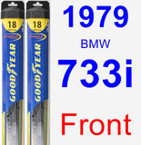 Front Wiper Blade Pack for 1979 BMW 733i - Hybrid