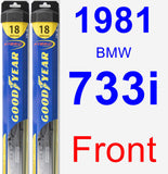 Front Wiper Blade Pack for 1981 BMW 733i - Hybrid